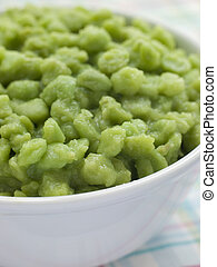 Bowl of Mushy Marrow fat Peas
