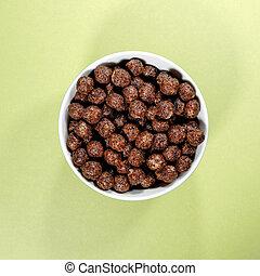 Bowl of Nesquik Chocolate FLavoured Breakfast Cereals