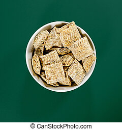 Bowl of Nestle Bitesize Shredded Wheat Breakfast Cereals
