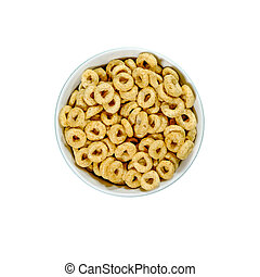 Bowl Of Nestle Whole Grain Cheerios Breakfast Cereals