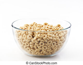 Bowl of oat cereal plane