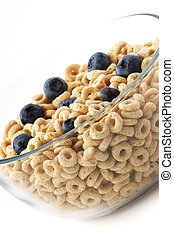 bowl of oat cereal with Blueberries