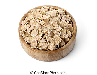 Bowl of oat flakes