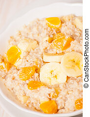 Bowl of oats porridge