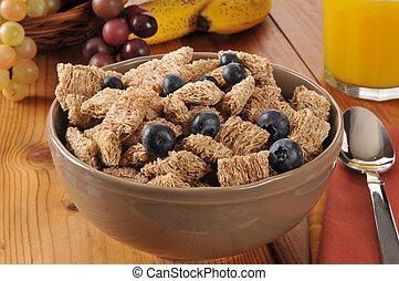 Bowl of organic wheat cereal