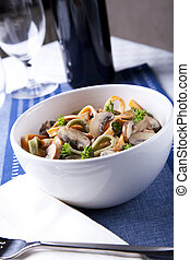 Bowl of Pasta with Mushrooms