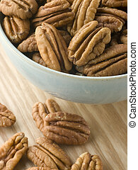 Bowl of Pecan Nuts