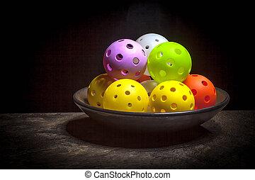 Bowl of Pickleballs