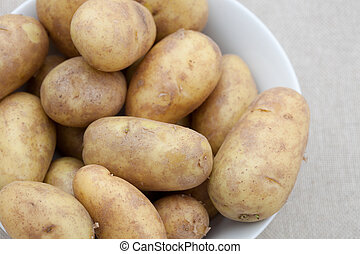 Bowl of potatoes - Bowl of fresh potatoes