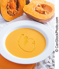 Pumpkin Soup with Fresh Thyme