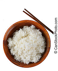 Bowl of Rice Isolated - Bowl of Rice on Isolated Background