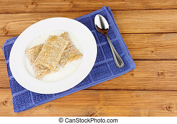Bowl of Shredded Wheat Cereal