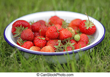bowl of strawberry's
