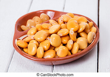 bowl of tasty lupin beans