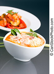 Bowl of Thai Shrimp Soup