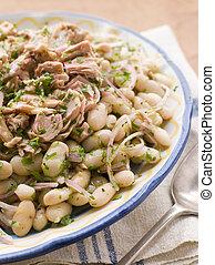 Bowl of Tuna and Bean Salad