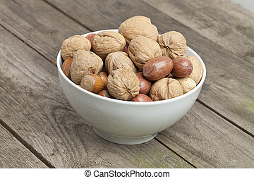 bowl of variety of nuts