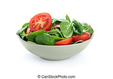 bowl of vegetable salad isolated