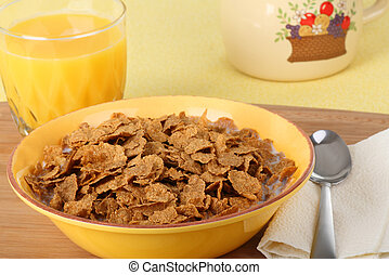 Bowl of Wheat Cereal