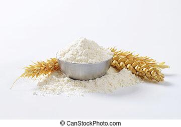 Bowl of wheat flour