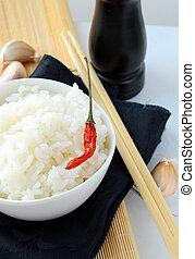 bowl of white fluffy rice