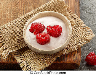 bowl of yogurt