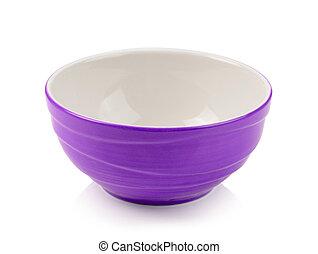 bowl on white background