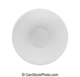 bowl on white background. top view