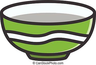 Bowl vector cartoon illustration