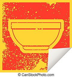 Bowl - vector icon illustration of a bowl