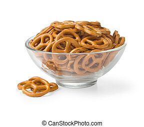 bowl with baked pretzels