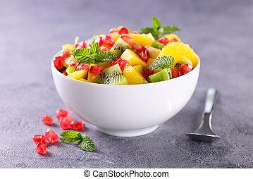 bowl with fresh fruit salad