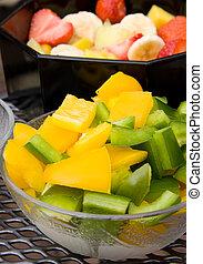 bowl with fresh paprika