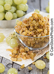 Bowl with Raisins