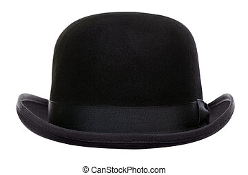 Bowler hat cut out - Photo of a bowler hat or derby cut out...