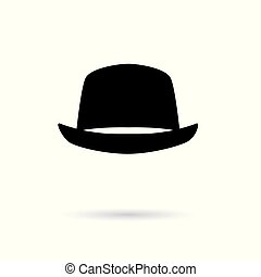 bowler hat icon- vector illustration
