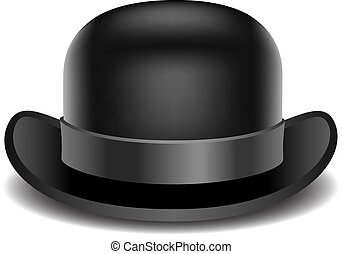 Bowler hat on a white background