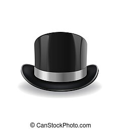 bowler hat vector illustration isolated on white background...