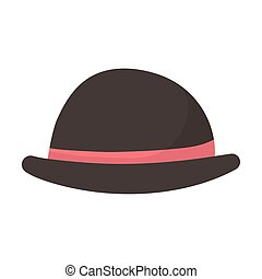 bowler hat with red ribbon icon