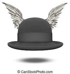 Bowler Hat with Wings