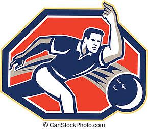 Bowler Throw Bowling Ball Retro