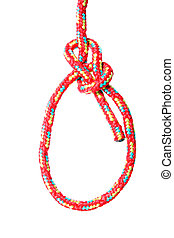 Bowline Knot - A fine knotted bowline in red in front of ...