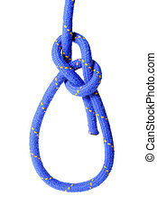Bowline Knot - A fine knotted bowline knot. All isolated on ...