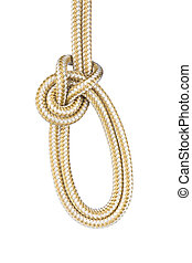 Bowline with a Bight on White - The Bowline with a bight is ...