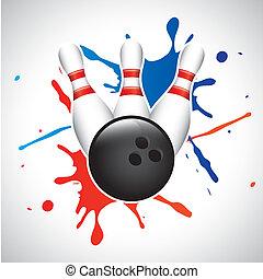 bowling, éclaboussure