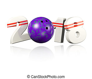 Bowling 2018 Design with a white Background