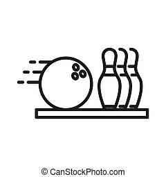 bowling activity illustration design