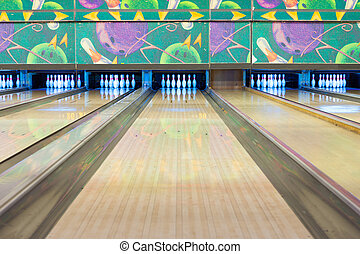 Bowling Alley Lane Clipart