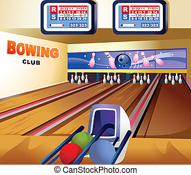 Bowling alley - This illustration is a common natural...