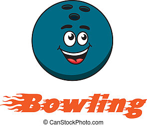 Bowling and bowling ball icon - Flaming red - Bowling - text...
